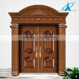 Modern Front Door Arch Top Double Wrought Iron Door