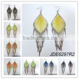 Beautiful make thread earrings with cc spikes