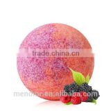 Mendior Raspberry and blackberry essential oil Bath Bombs with mixed color Natural Bath Fizzers OEM Brand