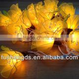 STRING LIGHTS YELLOW FAIRY LILY FLOWER PARTY DECOR WEDDING PATIO CHRISTMAS HOME