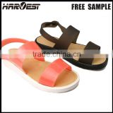 Hot selling lady thick sole flat sandal shoe for woman , thick sole jelly sandal                                                                         Quality Choice