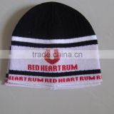promotional customized 100% acrylic knitted jacquard hat/scarf set with customized logo for adults