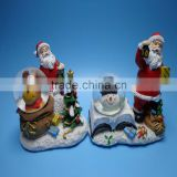 Resin water ball arts, santa claus with tree, Driving sledge, Christmas tree Body Design