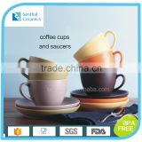 Hot-selling promotional ceramic coffee cup and saucers