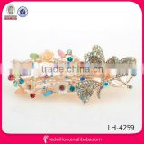 Manufacture wholesale elegant colored crystal hair stick barrette