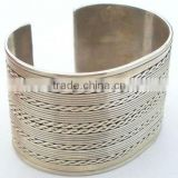 Latest simple cuff bangle plain engraved body piercing jewelry