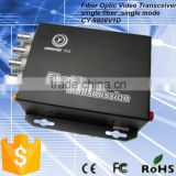 8 Channel analog bnc video to fiber video converter with control reverse data