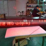 P16 red color outdoor led display sign for car park bus station