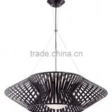 11.20-3 a white glass diffuser otherworldly large Planet Chrome and Black Pendant Chandelier