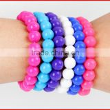 FDA approved silicone material bead bracelet