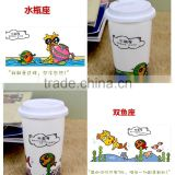 Factory direct sales All kinds of double wall ceramic mug with silicone lid