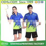 wholesale cheap sublimation badminton sport wear quick dry badminton jersey