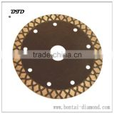 diamond X rims cutting disc for clean and fast cutting of hard materials than standard turbo cutter