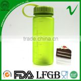 Tritan PCTG empty wide mouth cylinder water 400ml hotfill plastic bottle with food grade