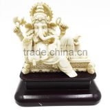 China manufactory hot sales polyresin ivory white ganesh idol