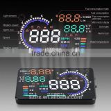 2 Inch GPS Car HUD Green LED GPS Head Up Display by Car Cigarette Lighter Plug and Play Speedometer GPS HUD Speeding Warm