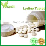 300 mg ISO GMP Certificate and OEM Private Label Iodine Crystals Tablets