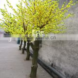 Atificial golden peach blossom flower tree for home decoration fiberglass trunk