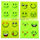 Cute Smile Face Reflector Decal funny Emoticons Stickers