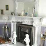 Indoor Used White Stone Fireplace