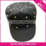 Promotional High Quality Silver Nails custom snapback cap flat brim custom snap back hat wholesale