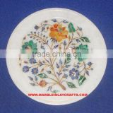 Marble Stone Inlay Antique Plate Decorative Marble Inlay Plate