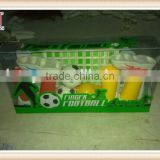 plastic promotional funny finger football game with 2 balls