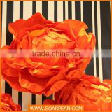 Shop Window Display Custom Decorative Giant Red Paper Flower
