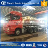 CLW grade A quality aluminum alloy 13T FUWA axle air suspension ABS 40000L ethanol alcohol flammable liquid tank semi trailer