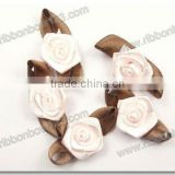 wholesale artificial satin ribbon flower