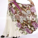 Top rated wholesales Gypsy floral belly dancing printed frill skirt