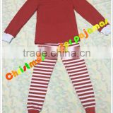 2015 Christmas pajamas outfits gigle moon remake Persnickety kids unisex stripe red sets