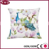 painting decorative linen couple lover cushion with birds