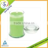 High quality glass candle jar with lid wholesale hot selling