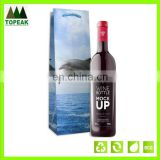 gift handle plastic wine bag
