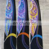 Good quality best selling big red paisley print necktie