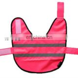 Pet security vest with visibility color and tape