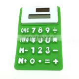 8 digital solar power flexible bendable silicone rubber calcucator for stationery