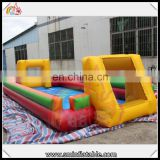 Durable inflatable sport court, inflatable soap football field, soccer playground for sale