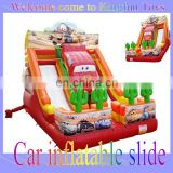 New arrival car inflatable slide for amusement park