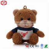 Lovely teddy 10cm pendent plush hot sale toy keychain