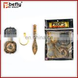 3pcs mini plastic pirate sword toy with compass