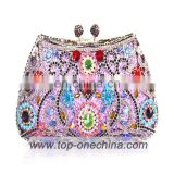 Factory Wholesale High Quality With Stones india clutch bag full of crystal evening bags