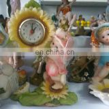 2016 China wholesale custom make polyresin religious statue souvenir,angel digital alarm clock