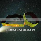 Yellow Reflective Armband With 4 Led Light CE EN13356 Standard