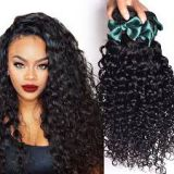 Brown 24 Inch No Chemical Brazilian 20 Inches Curly Human Hair Soft And Luster