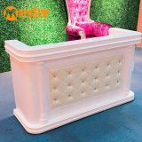 Modern beauty design small white glss reception desk in office