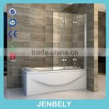6mm Folding with Square Hinge Bathtub Shower Screen BL-056