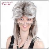 aliexpress gray straight synthetic hair wig ombre