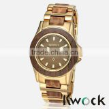 New Hot Selling Lady Bewell Solid Wood Stainless Steel Watch Collection With Date                                                                         Quality Choice
